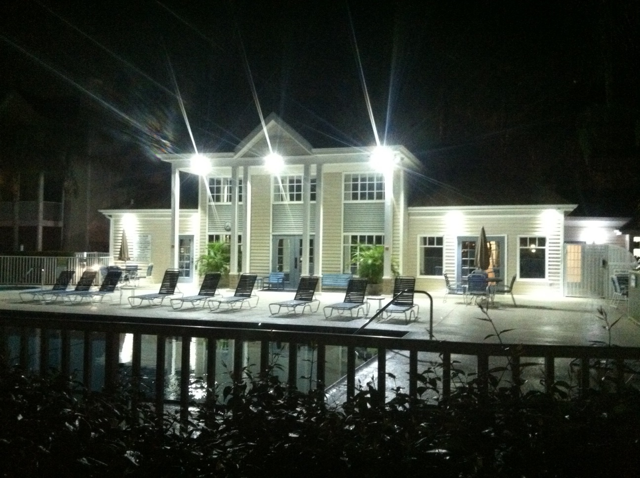 New LED Floods for pool area